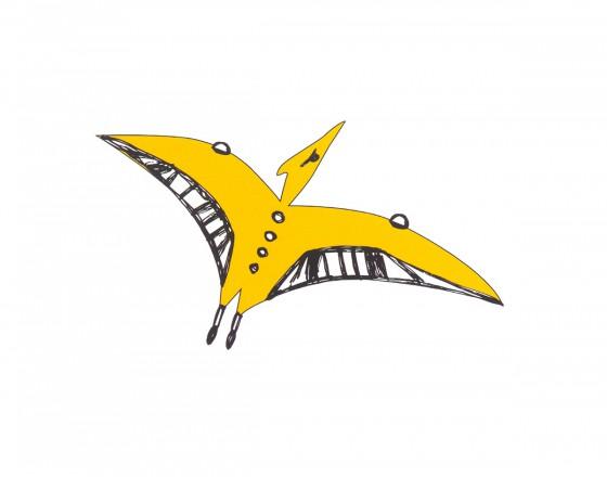 Декоративная наклейка Птеродактиль