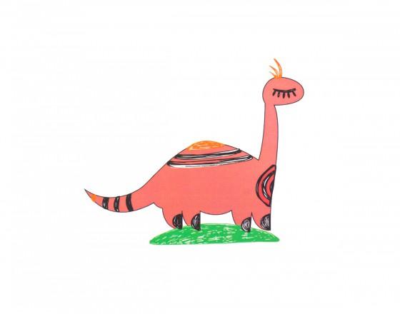 Декоративная наклейка Бронтозавр Маша