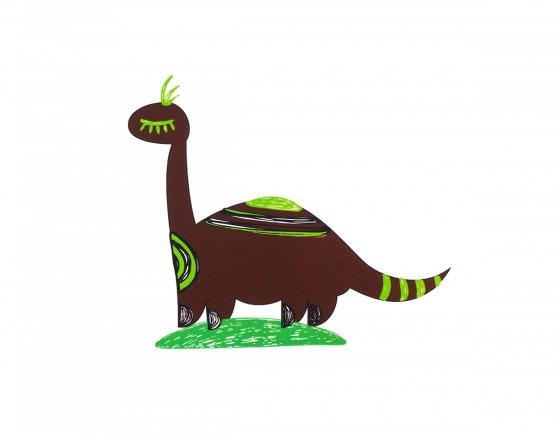 Декоративная наклейка Бронтозавр Андрей