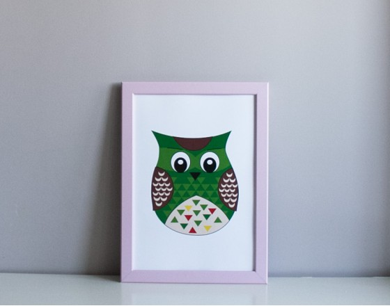 Постер Green Owl