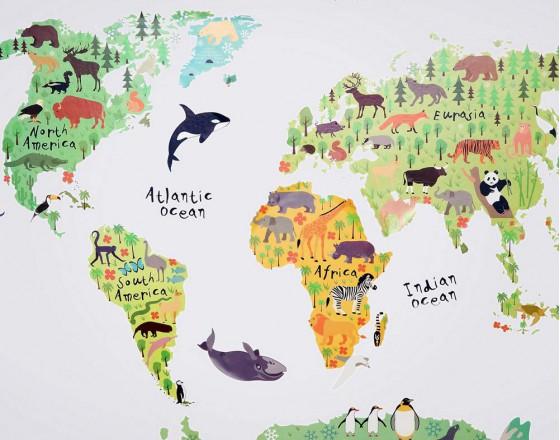 Декоративная наклейка Карта Мира