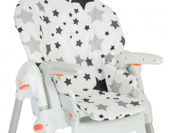 Съемный чехол Black Stars для стульчика для кормления
