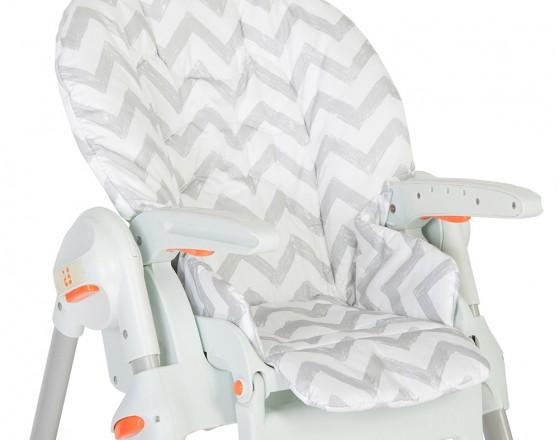 Съемный чехол Grey Zigzag для стульчика для кормления