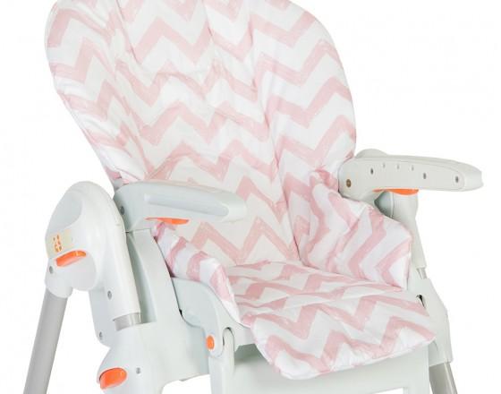 Съемный чехол Pink Zigzag для стульчика для кормления