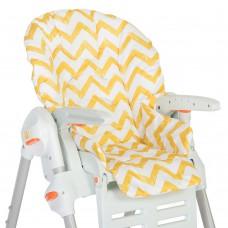 Съемный чехол Yellow Zigzag для стульчика для кормления