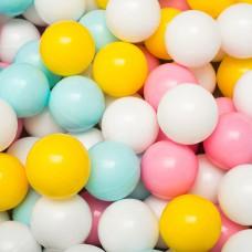 Сет из 200 шаров для детского сухого бассейна Серо-желто-голубой