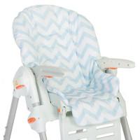 Съемный чехол Blue Zigzag для стульчика для кормления