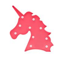 Детский ночник Розовый Единорог (голова)