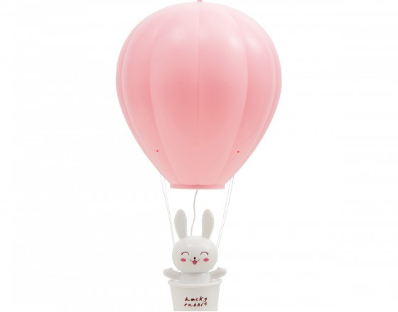 Детский ночник Зайчик на Воздушном Шаре, розовый