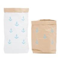 Эко-мешок для игрушек из крафт бумаги Small Anchors