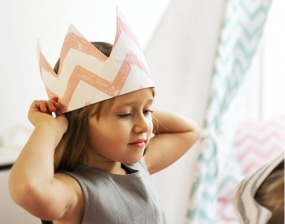 Детская корона Pink Zigzag