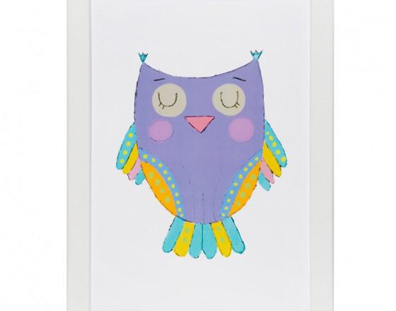 Постер Фиолетовая Сова
