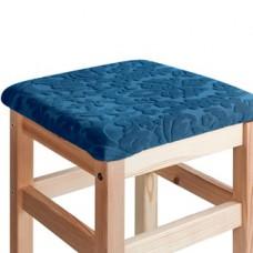 Чехол на квадратный табурет с подушкой Челтон морская волна