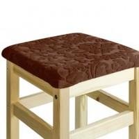Чехол на квадратный табурет с подушкой Челтон шоколад