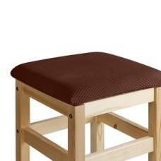Чехол на квадратный табурет с подушкой Бирмингем шоколад