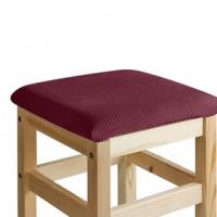 Чехол на квадратный табурет с подушкой Бирмингем фиолетовый