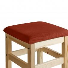 Чехол на квадратный табурет с подушкой Бирмингем терракот