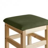 Чехол на квадратный табурет с подушкой Бирмингем оливковый