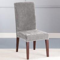 Чехол на стул Бруклин светло-серый