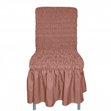 Чехол на стул Дэйзи с юбкой шоколад