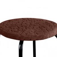 Чехол на круглый табурет с подушкой Челтон шоколад