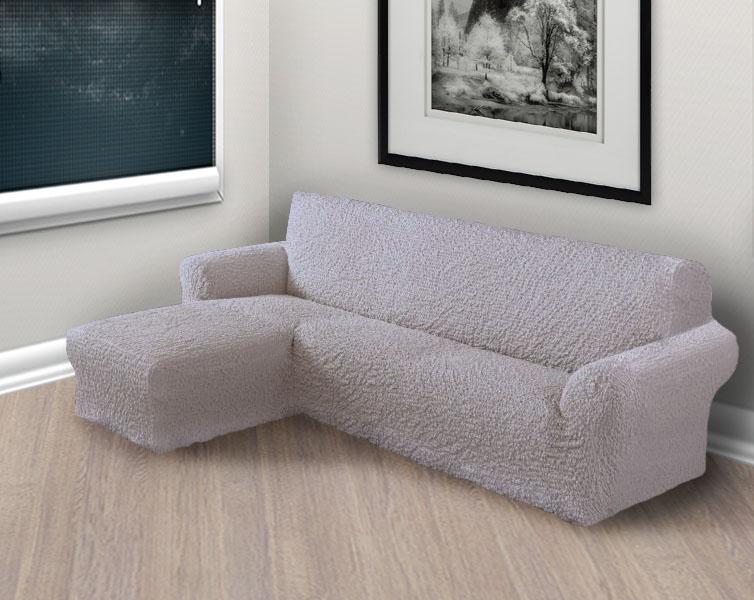 чехол на угловой диван с левым выступом цвет дымчатый купить в москве